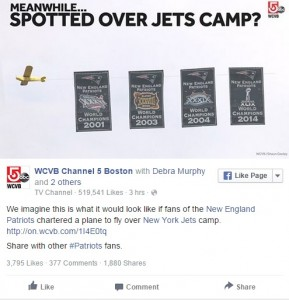 New York Jets Fans Troll New England Patriots with Airplane Banner ...