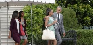 President Obama and Daughter Sasha
