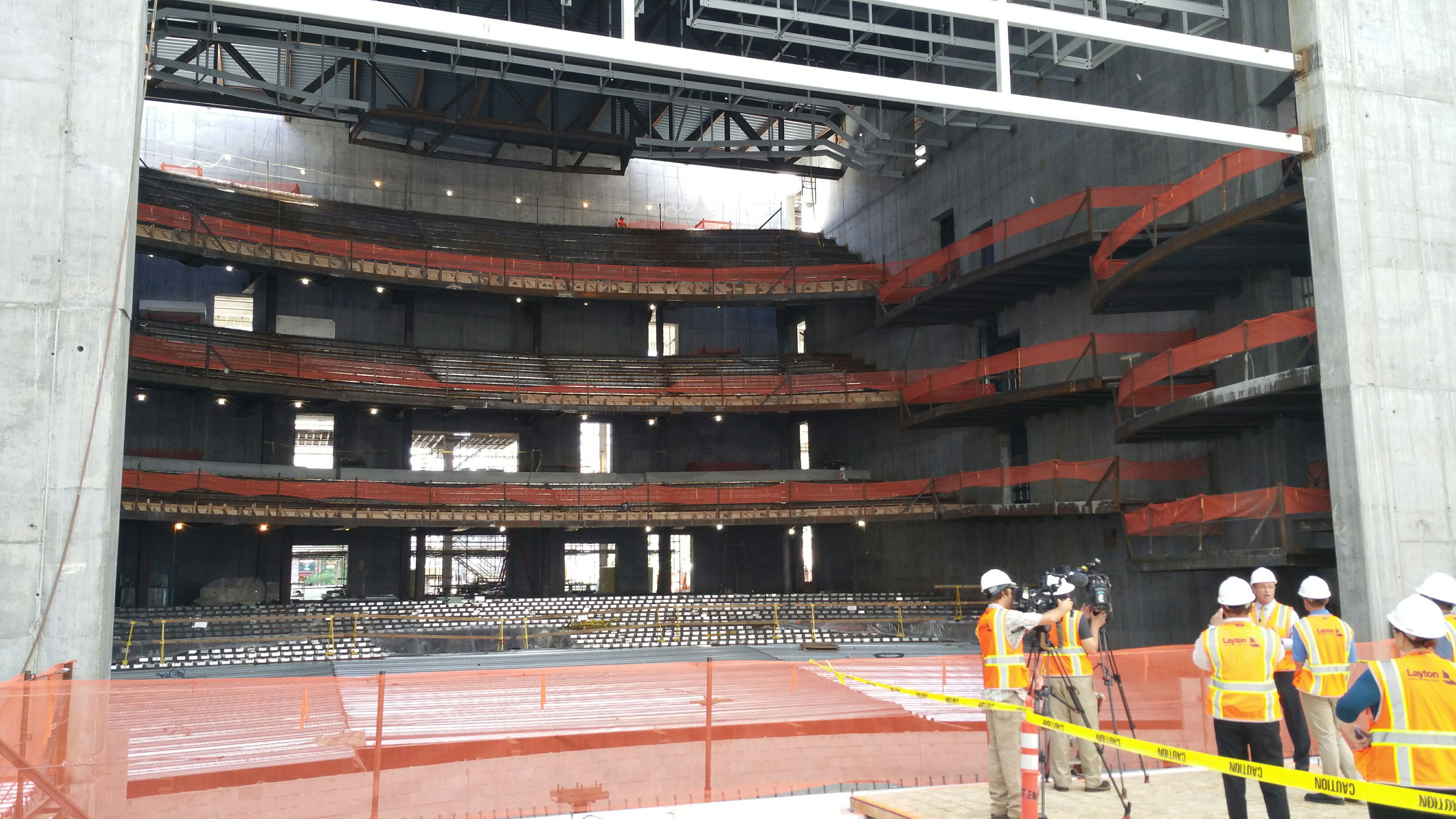 VIDEO Mayors Celebrate Halfway Mark On Construction Of New Eccles Theater