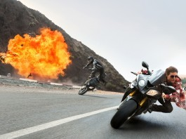 "Actor Tom Cruise in One Scene of ""Mission Impossible: Rogue Nation"""
