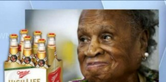 Agnes fenton 110 Year Old Drank High Life Miller