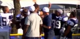 Dez Bryant Fighting Tyler Patmon at Dallas Cowboys Camp