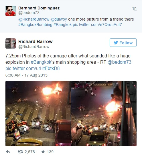 Explosion in Bankok