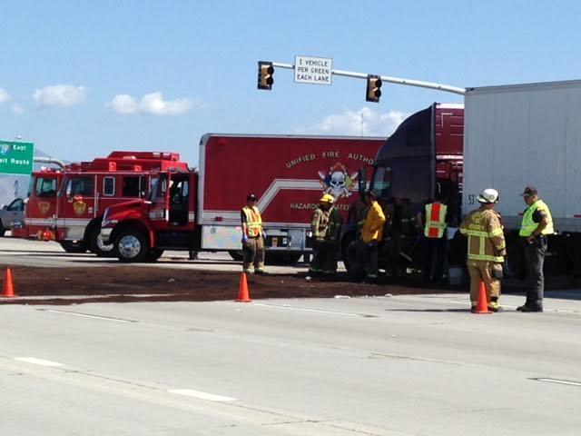 Freeway Diesel Spill