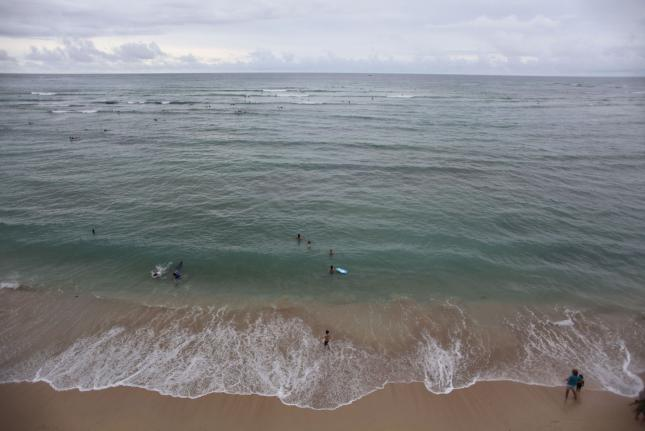 Waikiki Beach Closed