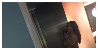 Kim Kardashian Shares Nude Pregnancy Photo