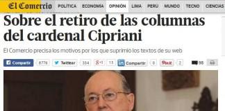 Peruvian Newspaper Cuts Archbishop For Plagiarizing
