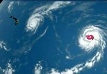 Two Category 4 Hurricanes East of Hawaii