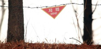 South Korean Land Mine Sign