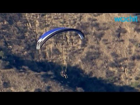 Motorized Glider Flies Over Prison