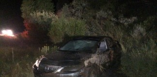 Rollover on Mirror Lake Highway