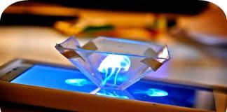 Smartphone 3-D Hologram Projector