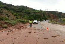 Mudslide in Spanish Fork Canyon