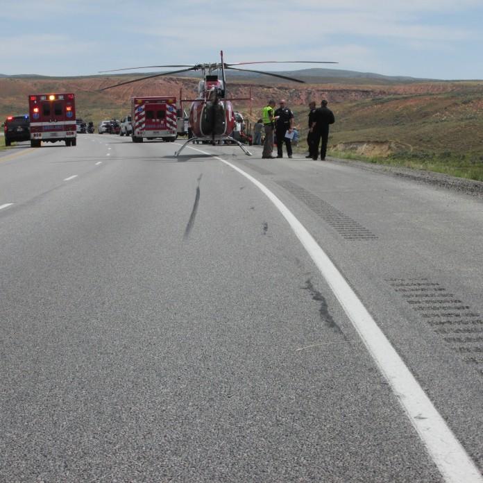 Motorcycle Crash In I-80 Responders