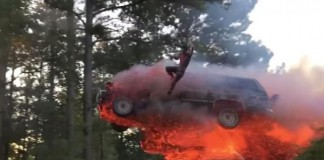 Alabama Men Jump Flaming Suv into Lake