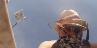 GoPro Falls From Drone Onto Burning Man