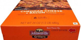Johnsonville Cheddar Chesse & Bacon Recall