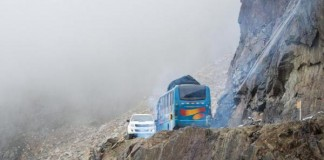 Bus Falls From 984-Foot-High Cliff In Peru