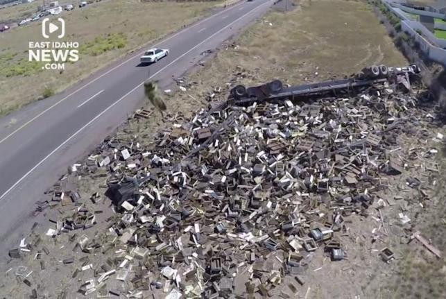 Semi Crash Releases Thousands Of Bees