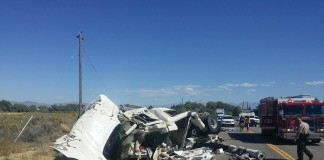 Semi-Truck and Mustang Rollover Accident