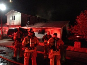 11 people were displaced after their home caught fire Friday night. Photo Courtesy: Salt Lake City Fire Department