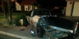 Police Looking For Suspect In Hit And Run That Mangled Truck