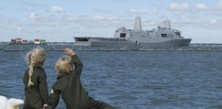 USS Arlington Departs For Maiden Deployment