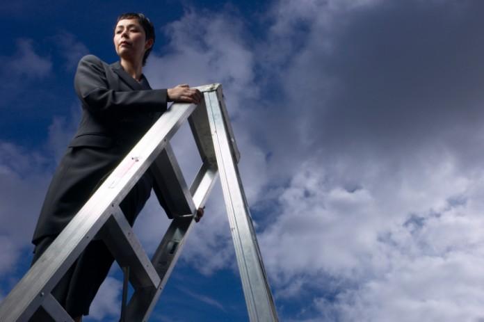 Women-Climbing-Ladder