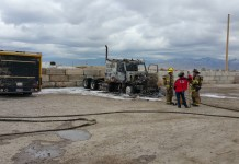 A semi caught fire Wednesday in West Valley City