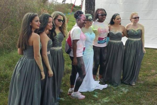 Bride Destroys Dress At 5k Color Run