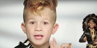 First Boy Ever In Barbie Ad