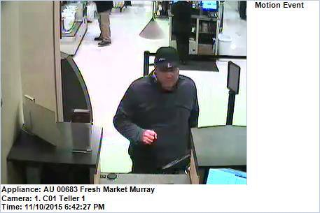 Murray Police Looking To Identify Suspect In Bank Robbery