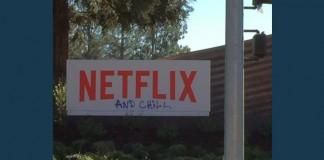Netflix Headquarters Sign Defaced