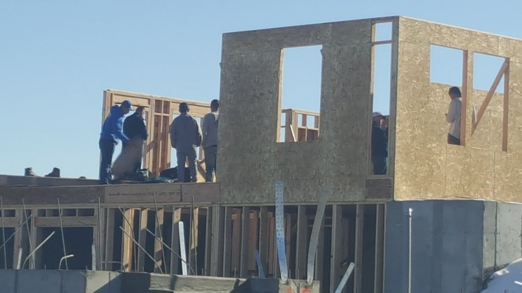 Wall Under Construction Falls