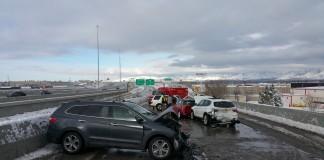 Five-Car Crash On I-15 Interchange