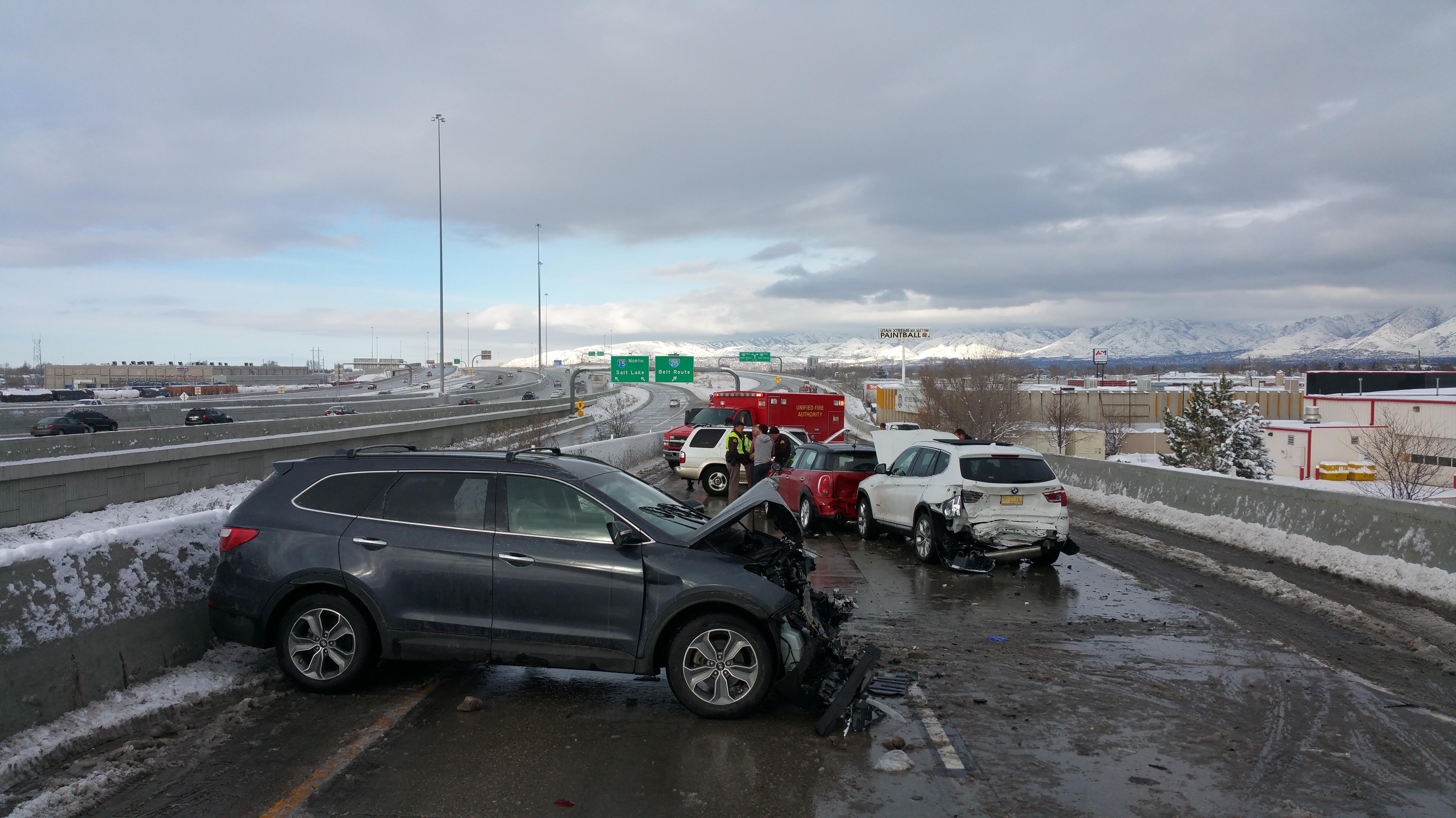 Five-Car Crash On I-15 Interchange Sends Two To Hospital In SLC ...