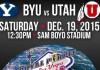 BYU, Utah To Battle In Las Vegas Bowl