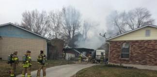 Fire Destroys Garage, Minivan