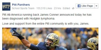 Pittsburgh RB Conner Announces