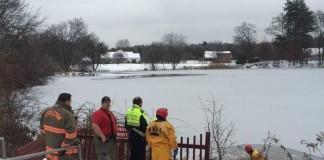 Man Falls Through Ice