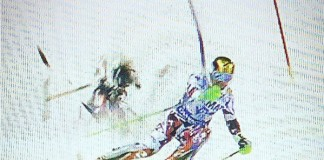 Falling Drone During Run In Ski World Cup