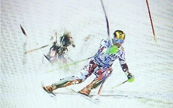 Falling Drone During Run In Ski World Cup