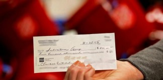 $500,000 Check Into Salvation Army Kettle