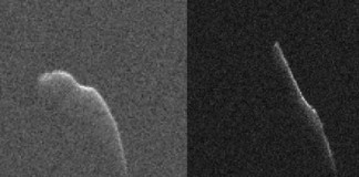 Astronomers have been collecting radar images of the Christmas Eve asteroid over the last several days. Photo by NASA/JPL