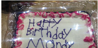 Cake Decorated By Autistic Worker