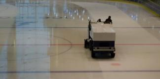 Zamboni Driver At Teen Hockey Game