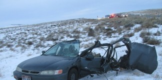 A West Valley City Man died after being hit from behind on I-80 near Tooele. Photo Courtesy: Utah Highway Patrol