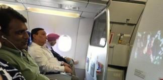 Watching Pirated Movie On Plane