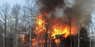 A fire destroyed a Park Summit home on Wednesday morning. Photo: Marion McDevitt