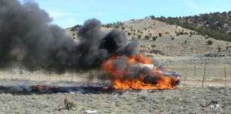Car Rollover, Fire Near Cedar City